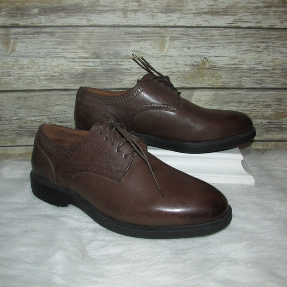 f0efbadc44284 Florsheim Stealth Plain Ox Brown Leather Oxfords